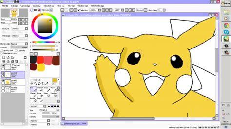 paint tool sai tutorial pikachu speed lineart pikachu paint tool sai