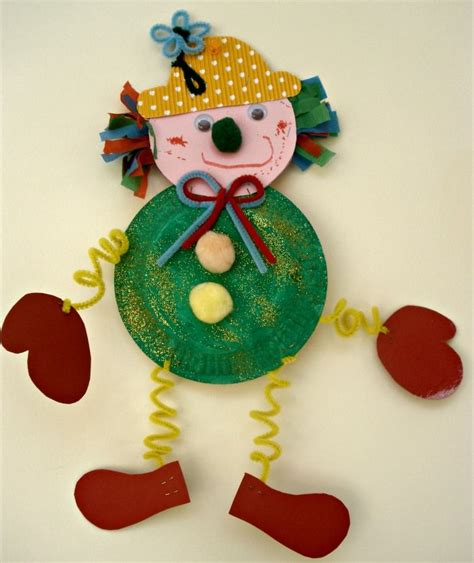 paper plate clown craft clown craft idea for crafts and worksheets for