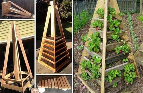Garden Diy Vertical Pyramid Garden Planter Diy Icreatived