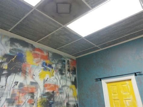 spray painting walls and ceilings ceiling tiles spray paint mkover yeah by