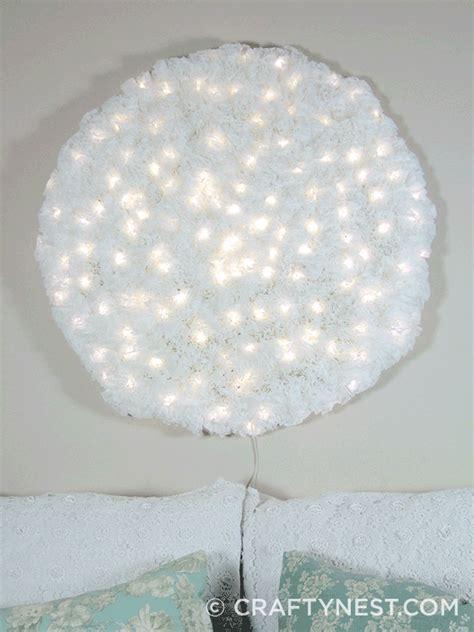 snowball lights coffee filter snowball wall light crafty nest