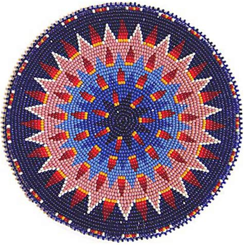 beaded rosettes patterns kq designs american beadwork powwow regalia and