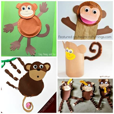 monkey crafts for 50 zoo animal crafts for i crafty things