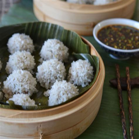 pearl rice pearl rice balls with sesame sauce recipe andrew