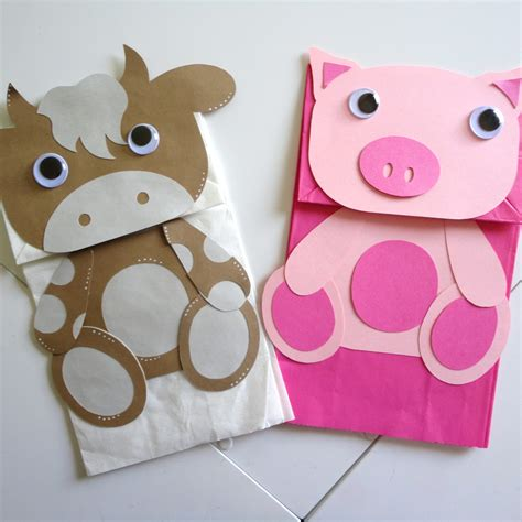 paper puppet crafts paper bag puppet projects to try