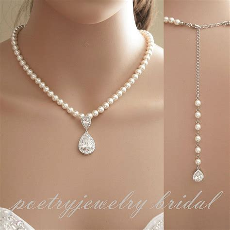 pearls for jewelry bridal backdrop necklace wedding jewelry pearl back