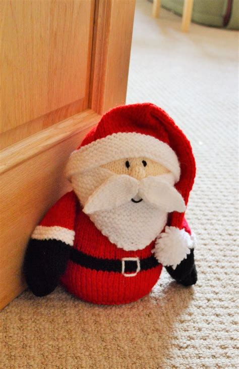 knitting store santa santa doorstop knitting pattern knitting by post
