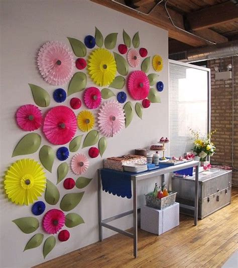 paper craft for wall decoration paper crafts awesome quot meadow wall quot paper