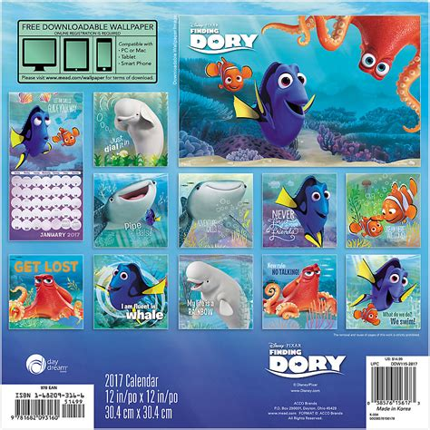 2018 disney pixar wall calendar day 1 2 price 2017 finding dory wall calendar disneypixar