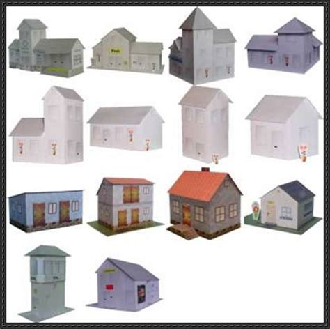 paper craft house 14 house paper model free