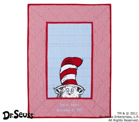 cat in the hat crib bedding set dr seuss cat in the hat baby bedding set pottery barn