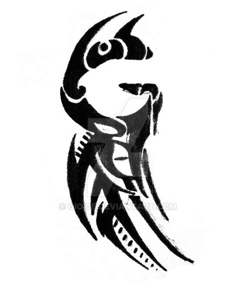 tribal g tattoo by gioice on deviantart