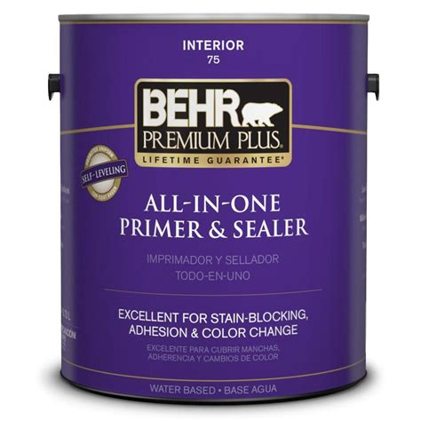 home depot paint and primer in one colors behr premium plus 1 gal stain blocking primer and sealer