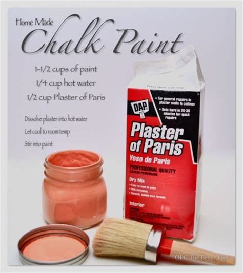 chalk paint plaster of recipe chalk paint recipes paint and how to make your on