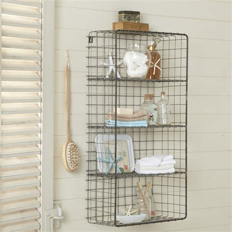 wire bathroom shelving wire shelves the treasure well designed
