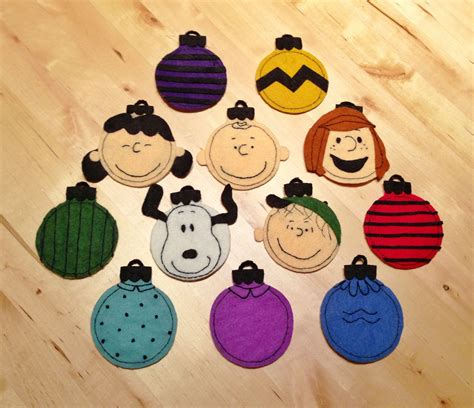 peanuts ornaments embroidered felt peanuts ornaments inspired by a great