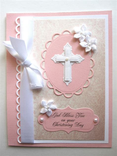 how to make a baptism card christening cards handmade