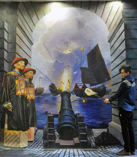 china painting show 3d painting show reenacts major historical events in china