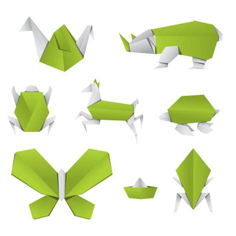 origami free free vector origami animals freevectors net