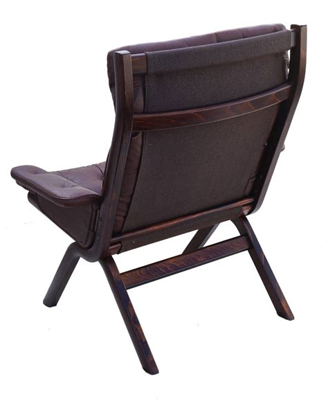 modern leather chair and ottoman modern leather sculptural sling lounge chair and