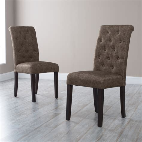 morgana onyx tufted parsons dining chair set of 2 at
