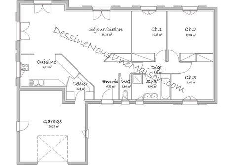 plan maison en l plain pied gratuit plan maison plans maison plain pied et plans