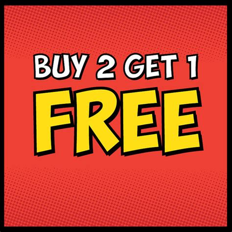 one free items similar to buy 2 get 1 free all posters in shop