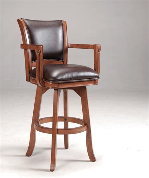 bar stool swivel chairs park view swivel bar stool medium brown oak finish