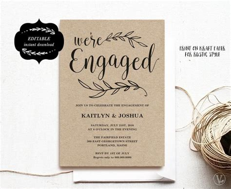 how to make engagement invitation cards glamorous engagement invitation cards templates 70 with