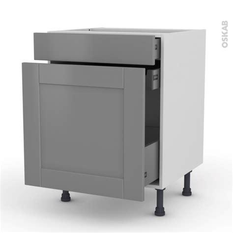 meuble de cuisine range 233 pice filipen gris 3 tiroirs l60 x h70 x p58 cm oskab
