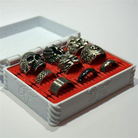 how to make ring holder for jewelry box free 3d object flower box with ring holder insert cults