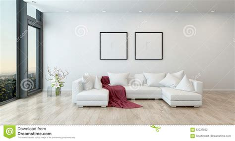 white sofas in living rooms throw on white sofa in modern living room stock