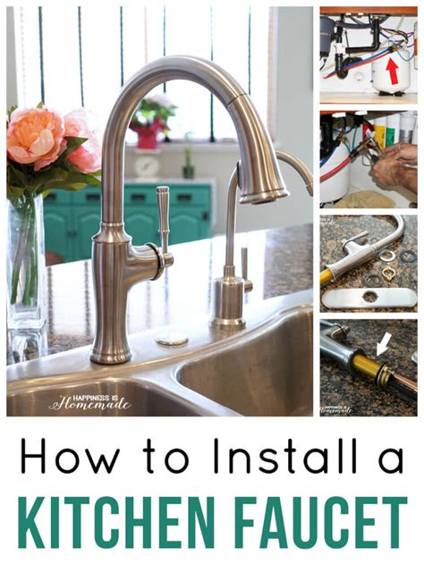 installing a kitchen faucet how to install a kitchen faucet happiness is