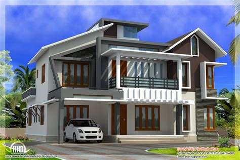 modern house plan modern contemporary home in 2578 sq kerala home design and floor plans