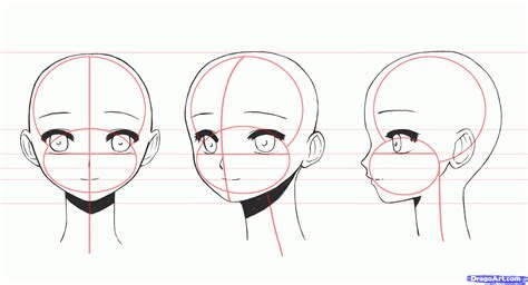 how to draw anime how to draw anime faces step by step anime heads