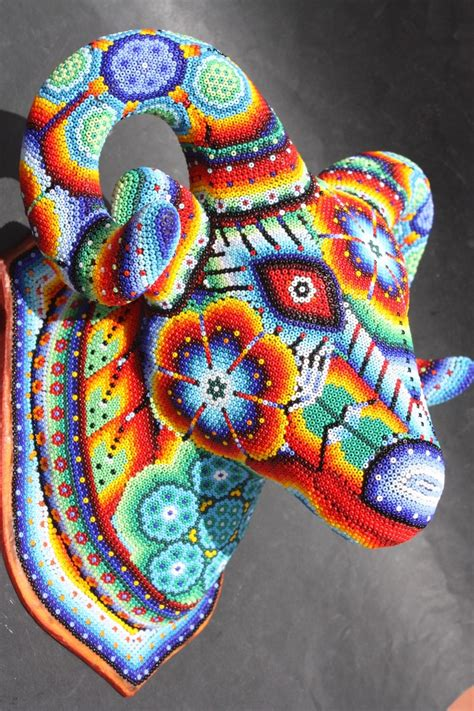 mexican beaded goat mexican ethnic huichol for the home