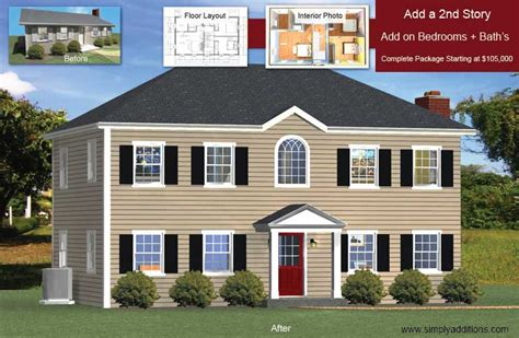 1 Bedroom House Floor Plans add a floor convert single story houses