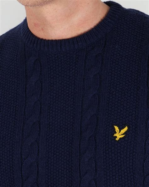 lyle and cable knit jumper lyle and cable knit lambswool jumper navy sweater