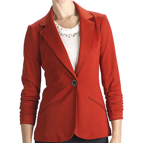 what are ponte knit anthracite r ponte knit blazer 3 4 sleeve for