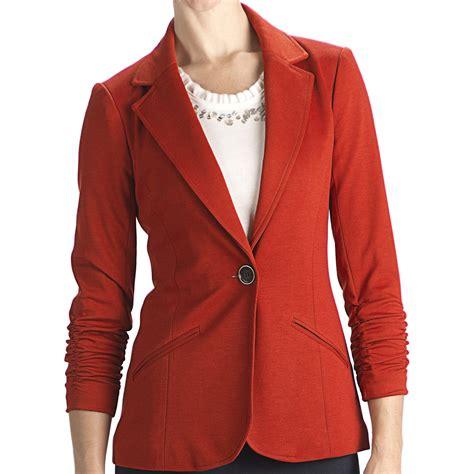 knit blazer womens anthracite r ponte knit blazer 3 4 sleeve for