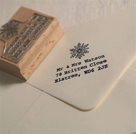 rubber address st snowflake address st by pretty rubber sts