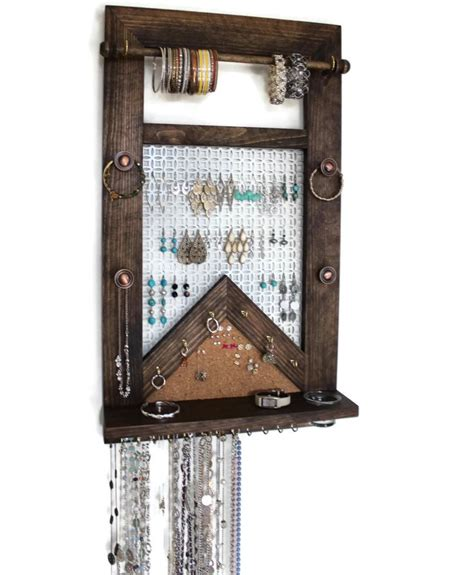 how to make a hanging jewelry organizer ultimate all in one jewelry organizer wooden