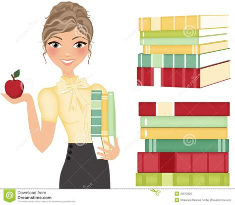 picture books about teachers with books stock photo image 43573925