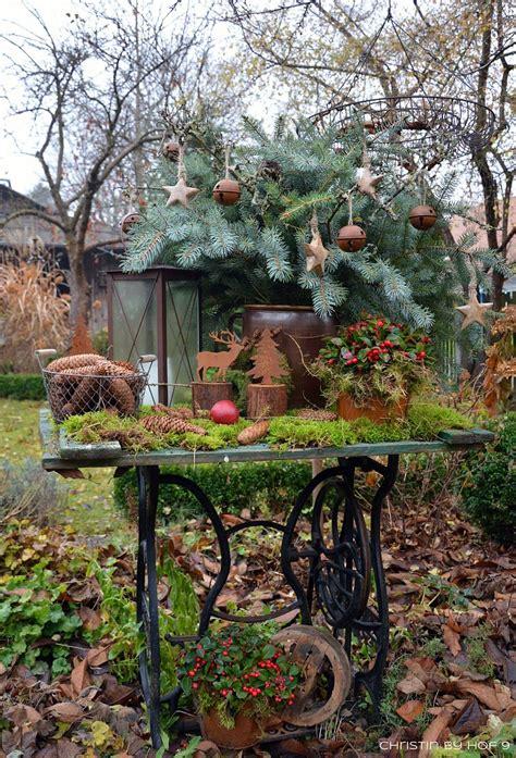Der Garten Im Winter by Quaste Aus Kiefernadeln Nat 252 Rliche Gartendeko Im Winter