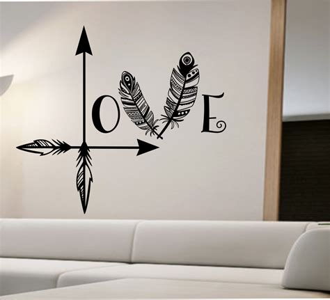 sticker decor for walls arrow feather wall decal namaste vinyl sticker