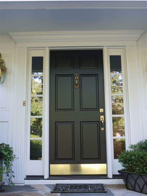 black kick plates for front doors 6 panel wood door with bronze kick plate black