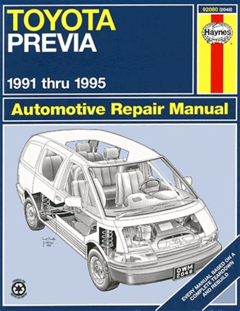motor auto repair manual 1996 toyota previa lane departure warning 1991 toyota previa engine removal