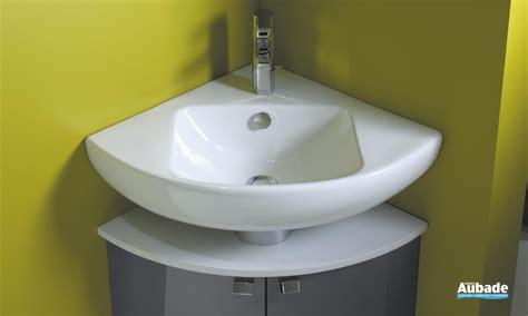 lavabo d angle blanc sur meuble bas od 233 on up espace aubade