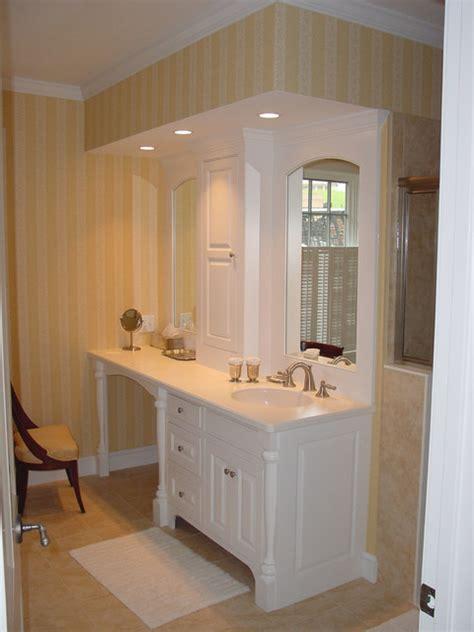 bathroom cabinets with makeup vanity bathroom vanity makeup area traditional bathroom