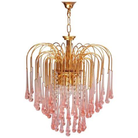 chandelier murano murano pink teardrop waterfall chandelier by